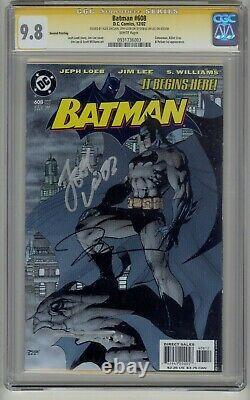 Batman #608 Cgc 9.8 2e Série Signature D'impression Signée Par Lee, Loeb, Sinclair