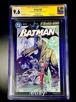 Batman #608 Rrp Cgc 9,6 Série De Signatures 3x Jim Lee Loeb Williams Rare