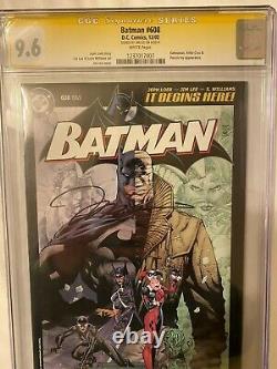 Batman #608 Rrp Retailer Incentive Cgc 9.6 Signature Series Jim Lee Auto Rare