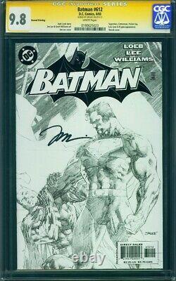 Batman #612 2ème Tirage Cgc 9.8 Signé Jim Lee Série Signature Deuxième DC Hush