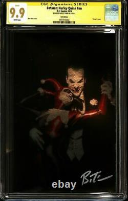 Batman Harley Quinn (dc) Cgc 9,9 Mint Série De Signature Bruce Timm Foil Ed