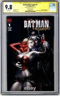 Batman Who Laughs #1 Signature Series Cgc 9.8 Warren Louw Variante! Couverture A