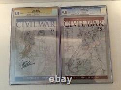 CIVIL War Sketch Cgc 9.8 #1-#7 Series Grades & Stan Lee Signed / Signatures