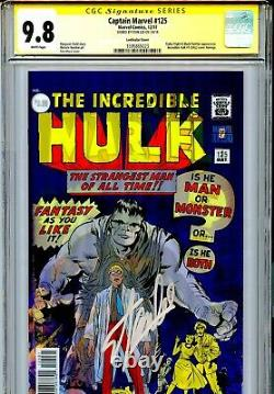 Capitaine Marvel Vol 7 125 Cgc 9.8 Ss Couverture Lenticulaire Hulk 1 Hommage Alpha Flight