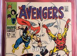 Cgc 9.2 Signature Series Avengers #58 Signé Stan Lee Origin Of The Vision