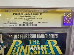 Cgc 9.2 Signature Series Punisher #1 (1986)! Signé Par Stan Lee & John Romita Sr