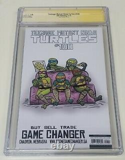 Cgc 9,8 Tmnt 100 Adams Neal Ninja Turtles 1/800 Série Signature Ss Nm/mt