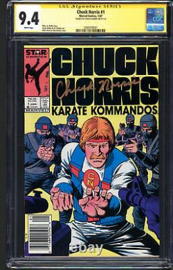 Chuck Norris #1 Cgc Ss 9.4 Nm Pages Blanches Chuck Norris Signature Series Signé