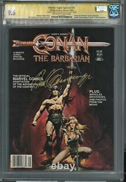 Conan The Barbarian Marvel Super Special Cgc Ss 9.6 Arnold Signature Series