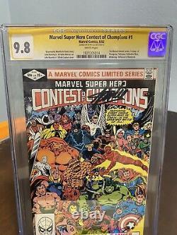 Concours Des Champions 1 Cgc 9,8 Série De Signatures Ss Signée Stan Lee Pages Blancs