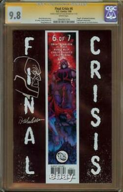 Crise Finale #6 Cgc 9.8 Série Signature Doug Mahnke Avec Tête Sombre Sketch