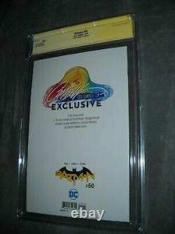 DC Comics Batman 50 Cgc Série De Signature 9.8 Blanc J Scott Campbell