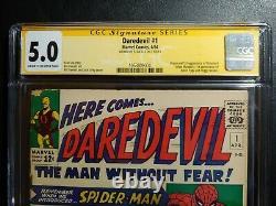 Daredevil #1 Cgc 5.0 Série De Signatures Stan Lee/ Nouveau Cas