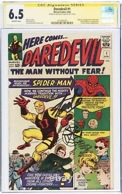 Daredevil #1 Signature Series Signed & Sketched By Stan Lee Fn+ 6.5 Cgc 1 Of 1