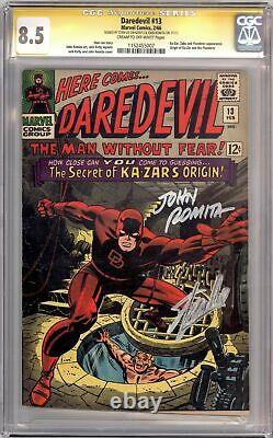 Daredevil #13 Cgc 8.5 Signature Series Signé Stan Lee John Romita Ka-zar Marvel