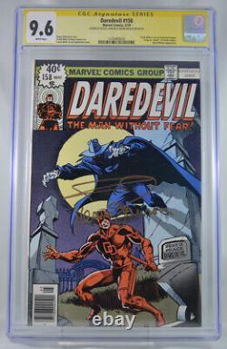 Daredevil #158 Cgc 9.6 Pages Blanches Série Signature Frank Miller Klaus Jansen