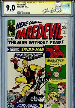 Daredevil Vol 1 1 Cgc 9.0 Ss Stan Lee Origin Matt Murdock 3ème Plus Haut Sur Le Recensement