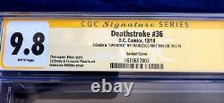 Deathstroke #36 Mattina Variante Cgc Signature Series 9.8 Signé Au Nycc