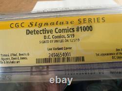 Detective Comics # 1000 Ss Signature Series Jim Lee Variante Cgc 9.8 Marvel