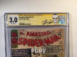 Échantillons Spider-man #5 Cgc Signature Series 3.0 Signé Stan Lee