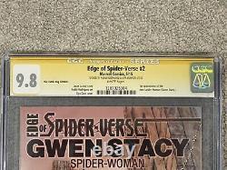 Edge Of Spider-verse #2 Comic Bug Variante Cgc 9.8 Signature Série 2x Signée