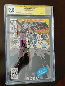 Étrange X-men 244 Cgc Signature Series 9.8 1er Jubilé Signé Par Chris Claremont