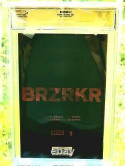 Faire Une Offre Brzrkr #1 Cgc 9.8 Série Signature Par Keanu Reeves Autographe