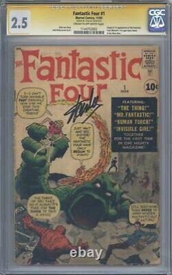 Fantastic Four #1 Cgc 2.5 Série Signature Signée Par Stan Lee 1ère App De Ff 1961