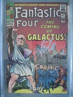 Fantastic Four #48 Cgc 9.6 Wp Ss Signé Stan Lee 1ère Application Silver Surfer