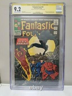 Fantastic Four #52 Cgc 9.2 Signature Series Signé Par Stan Lee Sur Back Cover