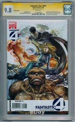 Fantastic Four #554 Bianchi Variante Cgc 9.8 Série Signature Signée Stan Lee