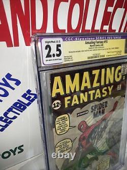 Fantastique Fantasy #15 Cgc 2.5 Série De Signature Rare! Par Stan Lee! Restauré