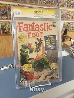 Fantastique Réimpression De Quatre Disques D'or #1. Cgc 4.0 Série De Signatures Stan Lee