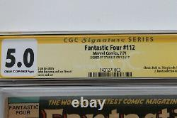 Fantastique Série De Signatures De La Cgc Signée Stan Lee, Quatre Séries De Signatures De 112 Vg/pn 5.0 (marvel)