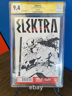 Frank Miller Original Cgc Signature Série Daredevil Et Elektra Sketch Cover