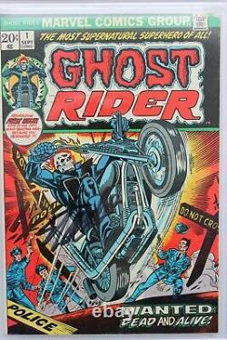 Ghost Rider #1 Fn/vf 7.0 (marvel) Série De Signatures De La Ccg Signée Stan Lee