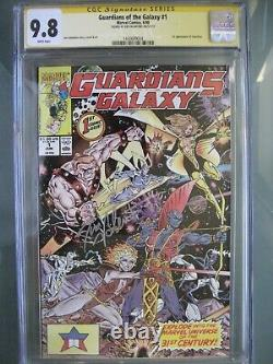 Guardians Of The Galaxy #1 Cgc 9.8 Wp Ss Signé Jim Valentino 1er Taserface