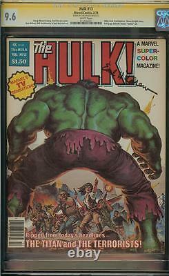 Hulk #13 Cgc 9.6 Signature Series Earl Norem Magazine