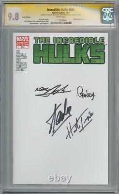 Hulks Incrédibles #635 Cgc 9.8 Séries De Signature Signées X4 Adams Stan Lee Trimpe