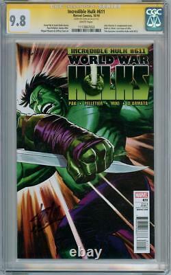 Incredible Hulk #611 Cgc 9.8 Série De Signatures Signée Stan Lee Marvel Guerre Mondiale