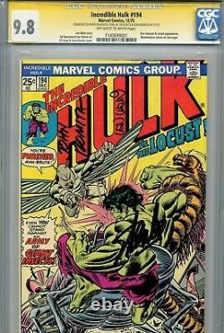 Incredible Hulk Vol 1 194 Cgc 9,8 Ss X3 Stan Lee Wein Romita Le Plus Élevé Du Recensement