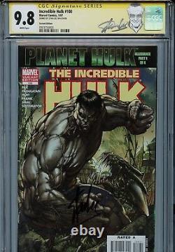 Incredible Hulk Vol 2 100 Cgc 9.8 Ss Gray Variante Stan Lee Turner Pak Planet