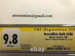 Incroyable Hulk #340 Cgc 9.8 Pages White Série Signature Todd Mcfarlane