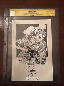 Jim Steranko Original Art Cgc Signature Series Nick Fury
