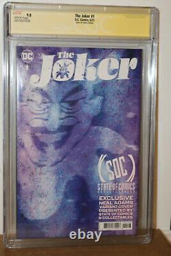 Joker #1 2021 Cgc 9.8 Série Signature Batman #251 Variante D'hommage Par Neal Adams