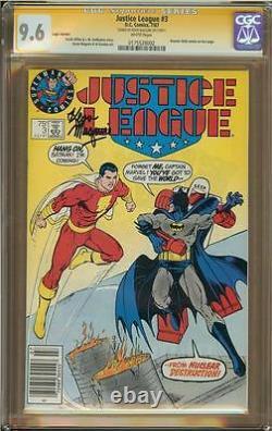 Justice League #3 Logo Variante Cgc 9.6 Série De Signatures Kevin Maguire