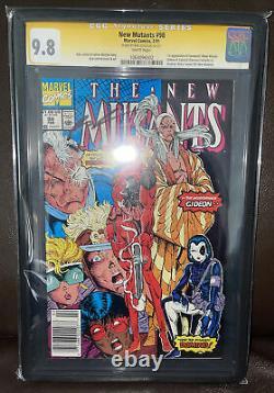 Les Nouveaux Mutants 98 Cgc 9.8 Liefeld Signature Series Newsstand Version Deadpool