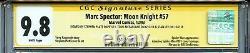 Marc Spector Moon Knight 57 Cgc 9.8 Ss X3 Stan Lee Mcfarlane Spider-man Asm 301