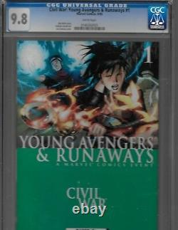 Marvel Comics Bundle CIVIL War Cgc Divers Série Un Livre Grades Et Signatures
