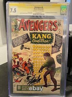 Marvel Comics Vendgers 8 Cgc Signature Series Kang Stan Lee 7.5